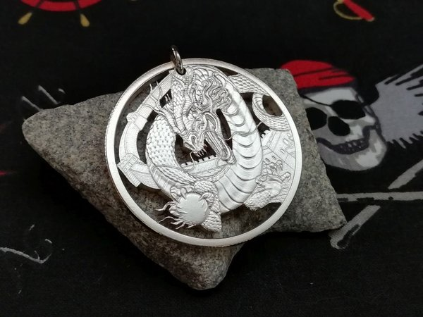 USA Medaille Chinese Drache Silber 999