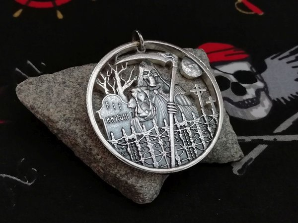 USA Medaille Grimm Reaper Silber 999